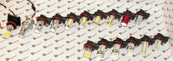 Обзор автомобильных светодиодных ламп с цоколем H8/H11