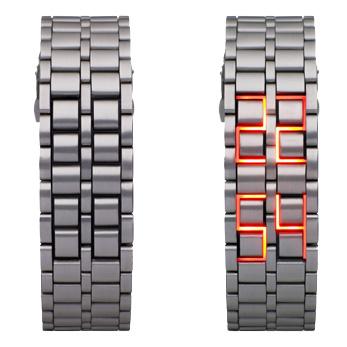 Светодиодные часы – браслет