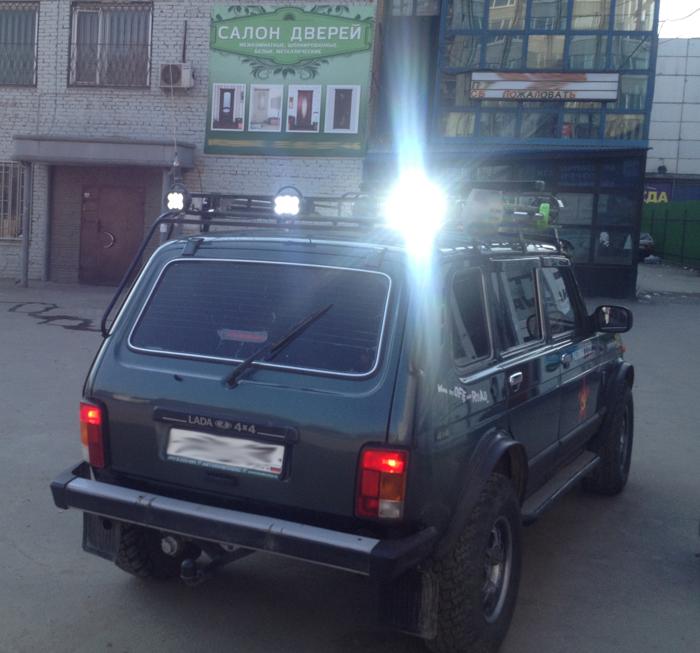 Пример установки Светодиодных прожекторов на НИВУ